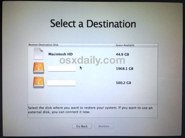 seleccione-mac-drive-to-downgrade-os-x