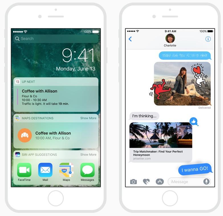 Capturas de pantalla de iOS 10