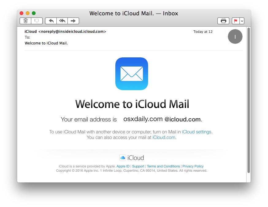 Confirme que se completó la nueva dirección de correo electrónico de iCloud