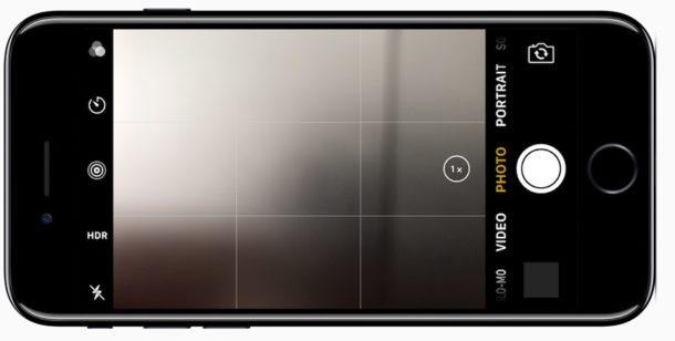 Cámara con pantalla de bloqueo a la que se accede en iPhone