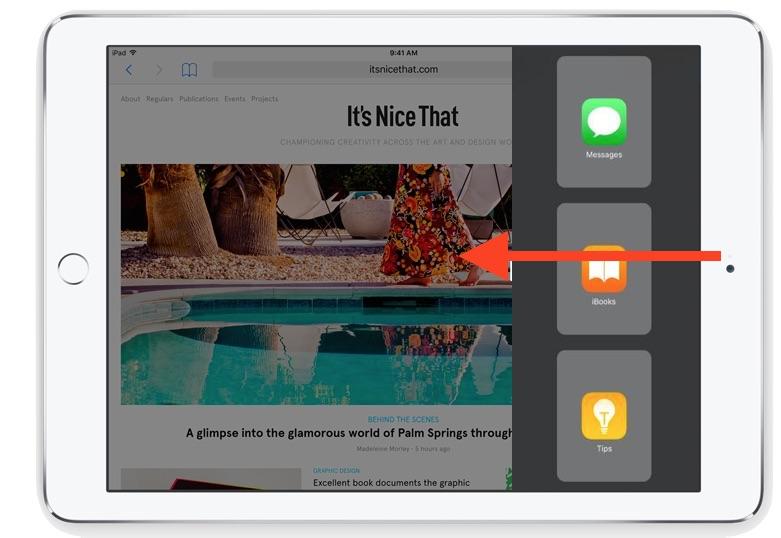 Acceder a Slide Over en iPad