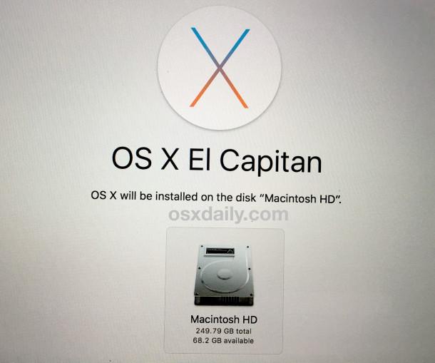 Reinstale OS X desde el modo de recuperación