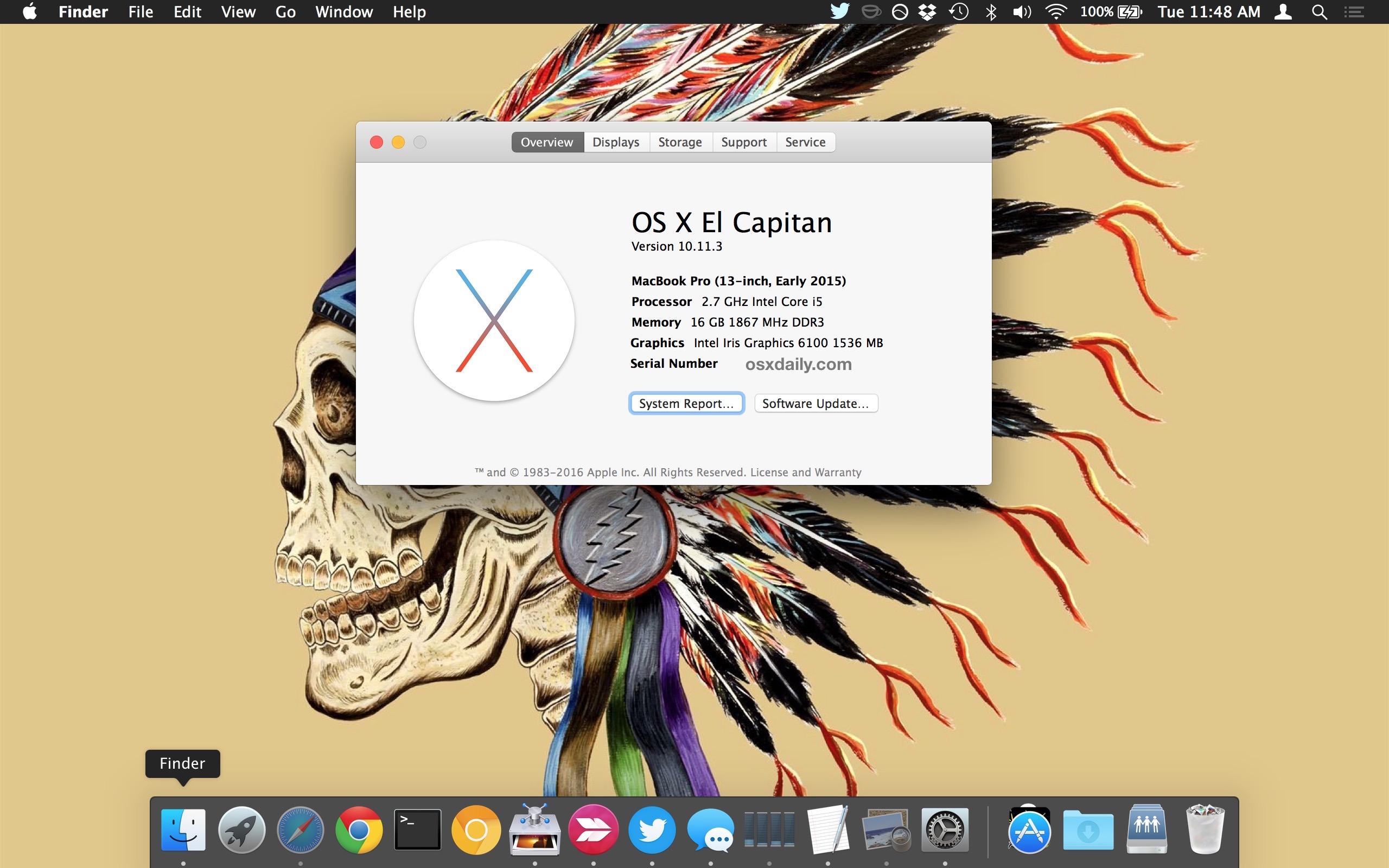 OS X recién reinstalado en una Mac