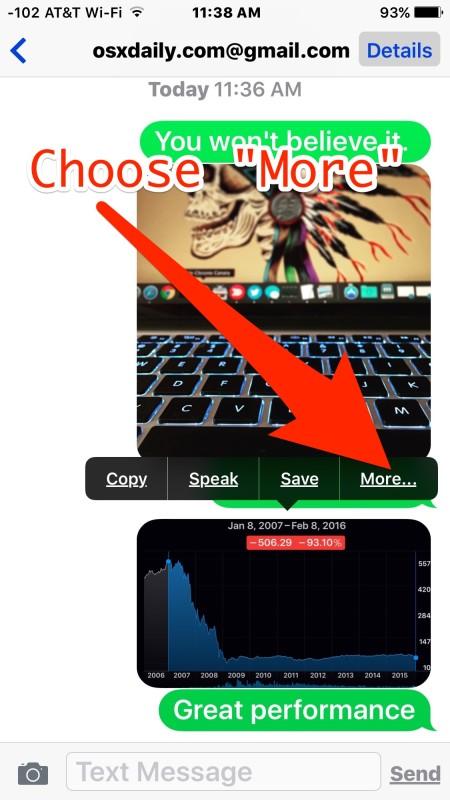 Cómo eliminar una imagen o video de Mensajes en iPhone