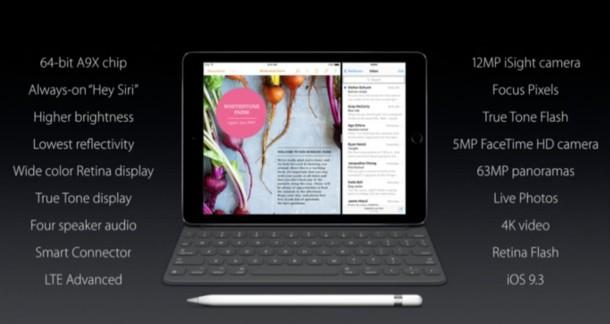 Hoja de especificaciones del iPad Pro Medium