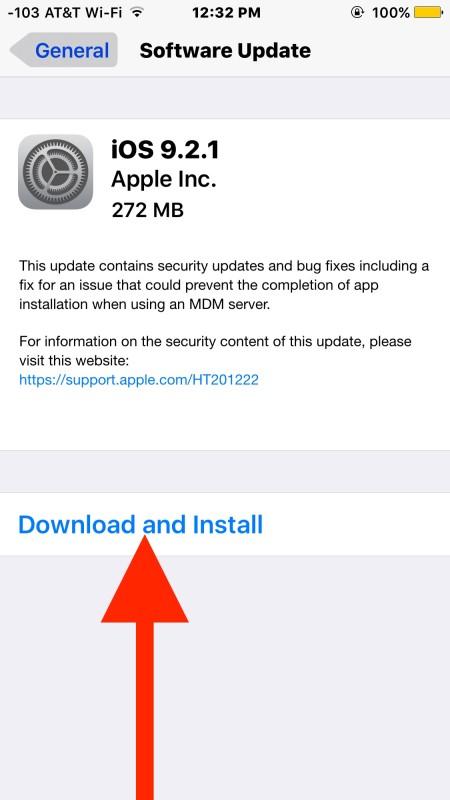 Descargue e instale la última actualización de software de iOS