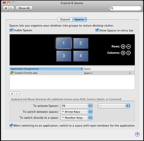 Escritorios virtuales Mac