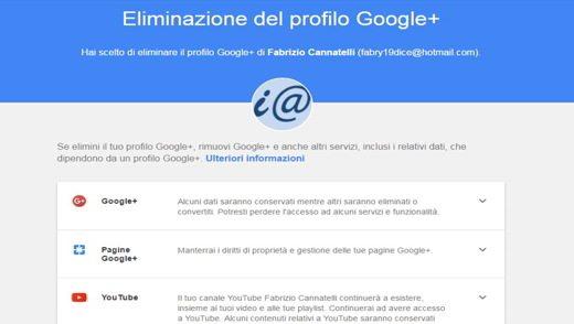Eliminar el perfil de Google+