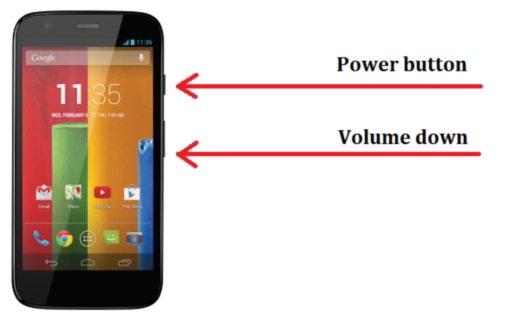 Captura de pantalla del Motorola Moto G