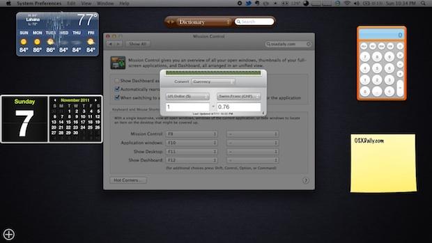 Regrese al panel de Mac OS X Lion para colocarlo de forma transparente en el escritorio