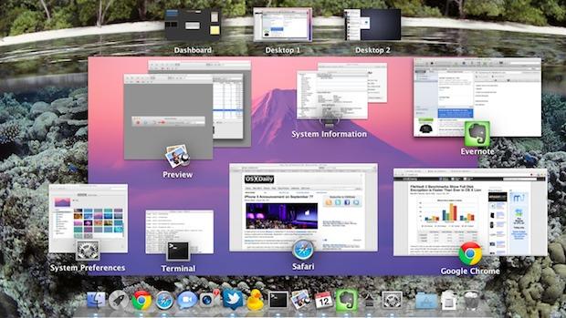 Cambia el fondo del control de misión en Mac OS X.
