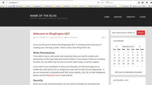 BlogEngine.net en Localhost