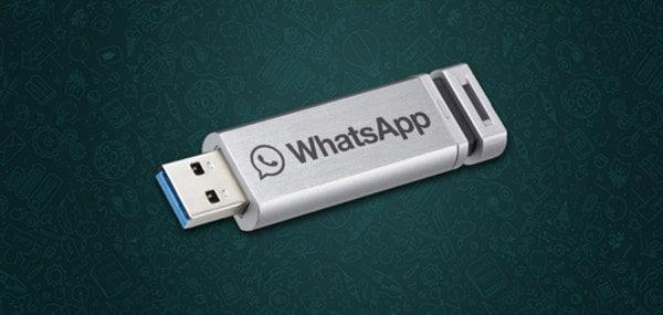 WhatsApp en memoria USB
