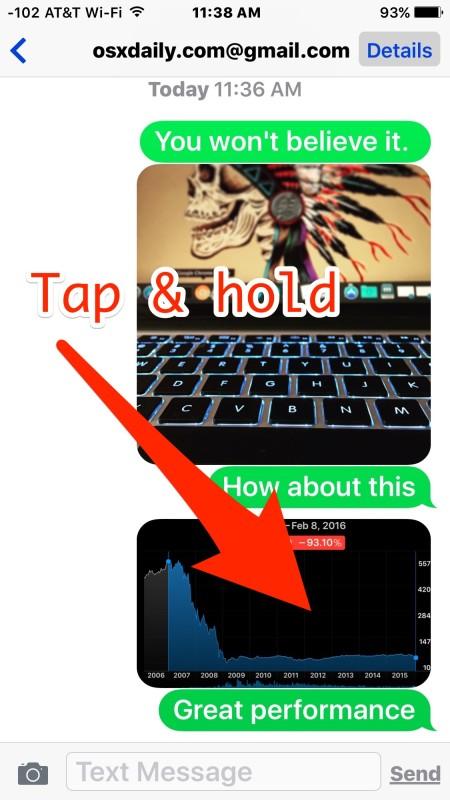 Cómo eliminar una foto de Mensajes en iPhone