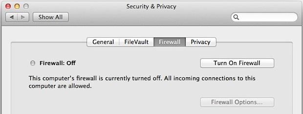 Habilitar el firewall de Mac