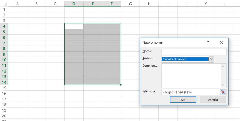 Cómo nombrar celdas en Excel