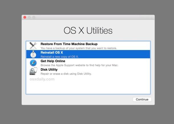 Reinstale el software OS X en una Mac