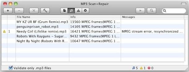 reparar archivos mp3