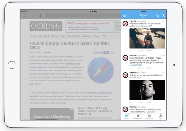 Cómo usar Slide Over multitarea en iPad