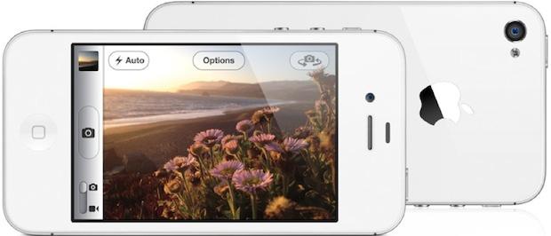 Apple iPhone 4S en blanco