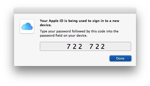 Código de autenticación de dos factores de ID de Apple