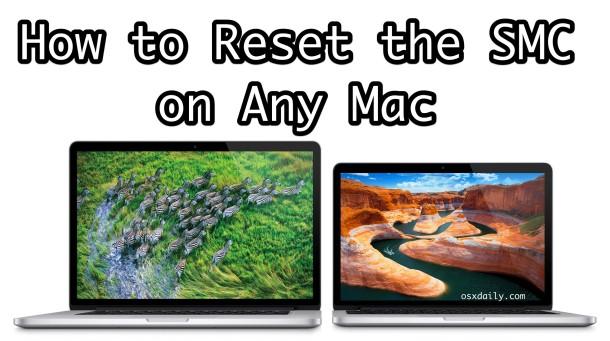 Cómo restablecer SMC en una Mac