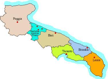 El mapa de Puglia