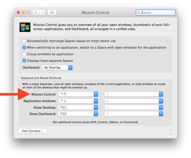 Escritorios virtuales en OS X con Mission Control