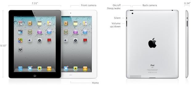 Especificaciones del iPad-2