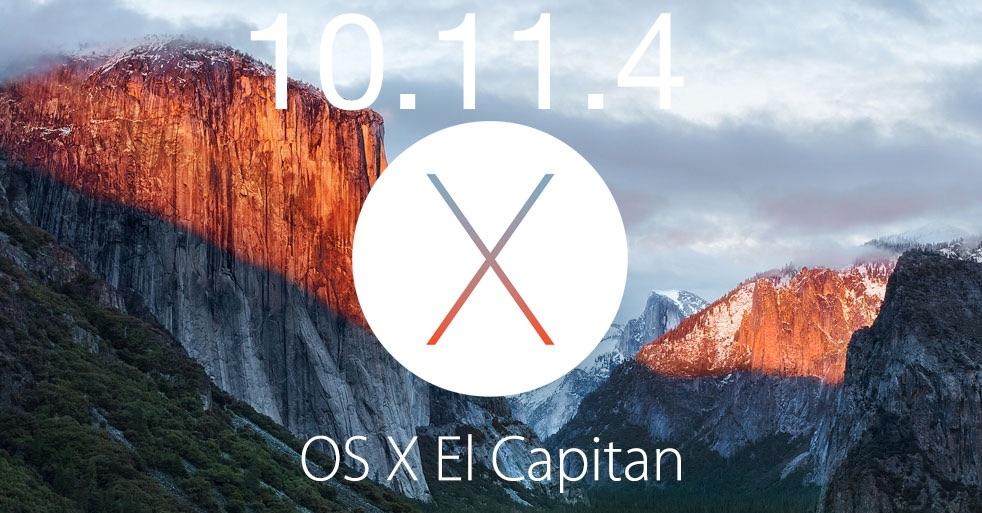 Actualización de OS X 10.11.4