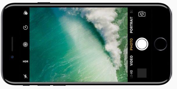 Cámara del iPhone a la que se accede mediante la pantalla de bloqueo