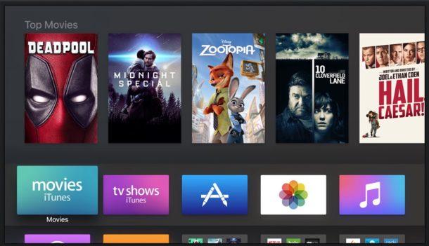 tvOS 10 en el Apple TV